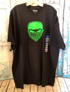 53630099b90 Neon Green Skull Wearing A Bandanna