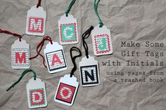 Make Gift tags: Upcycling an old book  loulou downtown
