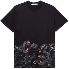 online store 1a67a 4b046 Givenchy Monkey Brothers Columbian-Fit Printed Cotton-Jersey T-Shirt  ( 1,028)