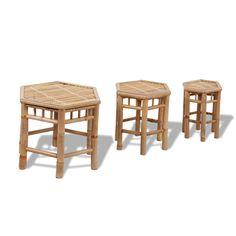 Bambus Stuhl Set 3 Teilig