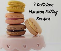 7 Macaron Filling Recipes Looking for some new filling ideas for macarons? Here are seven easy, unique recipes. Macarons Filling Recipe, Macaroon Filling, Macaroons Flavors, Macaroon Cookies, Vanilla Macaron Recipe Easy, French Macaron Filling, Coconut Macarons Recipe, Best Macaroon Recipe, Crack Crackers