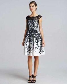 Vestito elegante bianco e nero