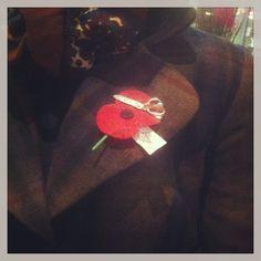 What's Mickey wearing today?? Anzac Poppy, Scisdor Broach and Xavier Jacket #wearingmister