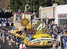 "The Girl Scouts of Greater Los Angeles ""100 Years of Girl Scouts"" float  in the 123rd Tournament of Roses Parade held in Pasadena, California on January 2, 2012."