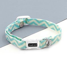 Chevron Cat Collar with Breakaway Safety Buckle  by PETSbyCarvas