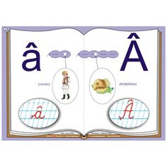 Alfabetul-planse pentru recunoasterea sunetelor si invatarea literelor Kindergarten Activities, Classroom Decor, School, Album, Pre K, Preschool Activities, Card Book