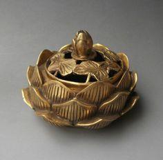 Chinese Old Brass Carved Lotus Flower Incense Burner Censer | eBay