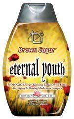 Eternal Youth - Tan Incorporated - Brown Sugar Tanning Lotion by Tan Incorporated. $15.00. Biologic Energy Tanning Lotion with Ultra Anti-Aging and Firming Mushroom Complex. Eternal Youth is free of cosmetics and DHA, utilizing a natural Bilogic system that uses heat and ultraviolet light to stimulate natural bronzers for an ubelieveable, glowing tan.. Save 50%!