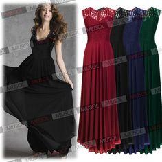 Womens Elegant Evening Party Ball Gown Maxi Bridesmaid Wedding Formal Dresses #CIKE #BallGown #Formal