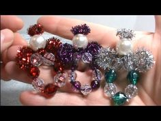Make Adorable Sparkly Beaded Angel Ornaments~Great Kids Project! Disclaimer: This craft tutorial video was made by HappyBirds Glitter Nest with the sole intention of giving instruction to the adult crafting community only. This craft tutorial video is Ornament Crafts, Christmas Crafts, Christmas Patterns, Kids Ornament, Christmas Ideas, Christmas Angels, Safety Pin Crafts, Beaded Angels, Pipe Cleaner Crafts