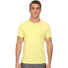 French Connection S/S Slub Henley (Limelight) Men's T Shirt ($25) ❤ liked on Polyvore featuring men's fashion, men's clothing, men's shirts, men's casual shirts, green, mens straight hem shirts, mens short sleeve sport shirts, mens henley shirts, mens sport shirts and mens short sleeve casual shirts