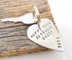 Birthday Gift for Dad Birthday Idea for Husband Birthday for Men Birthday Present for Daddy Birthday Keychain Custom Message - presents for dad 50th Birthday Messages, Unique 50th Birthday Gifts, Birthday Message For Husband, Birthday Presents For Men, Daddy Birthday, Happy 50th Birthday, Presents For Dad, Special Birthday, Gifts For Husband