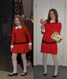 Halloween costume inspirations: Veruca Salt from Willy Wonka Holiday Costumes, Cute Halloween Costumes, Halloween Kostüm, Halloween Cosplay, Holidays Halloween, Diy Costumes, Adult Costumes, Costume Ideas, Halloween Clothes