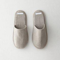 Fog Linen Works' Linen Slippers: Remodelista