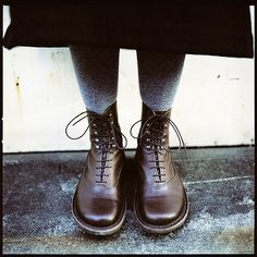 Trippen 'Band' boots. A sturdy 'shoe' with a soft leather 'sock'.