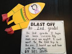 End of the year before kids go to the next grade.  I also like the idea of doing this on the first day of school, and then looking back at them on the last day.