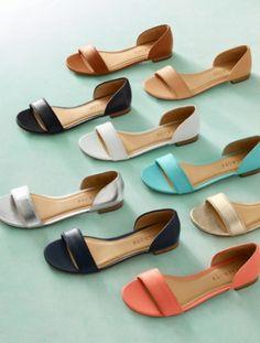 Lamar D& Flats - Vachetta Leather - Talbots Shoes Flats Sandals, Leather Sandals, Shoe Boots, Flat Shoes, Flat Sandals, Pretty Shoes, Cute Shoes, Me Too Shoes, Mein Style