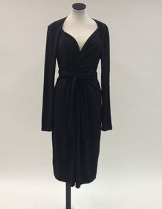 DKNY Faux-Wrap Covered or Exposed Shoulder Black Dress, size L. SOLD | eBay www.darlingdiscounts.com