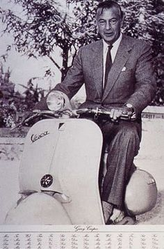Gary Cooper on a Vespa