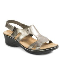 Loving this Pewter Aleisha T-Strap Sandal on #zulily! #zulilyfinds