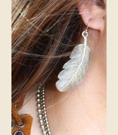FEATHER EARRINGS - Junk GYpSy co.