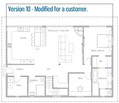 Modified House Designs Small Modern House Plans, New House Plans, Small House Design, Modular Home Plans, Modular Homes, Office Bathroom, House Made, Planer, Architecture Design