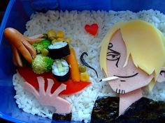 Sanji from One Piece    #onepiece #manga #japan #sanji #art #food #sushi #bento