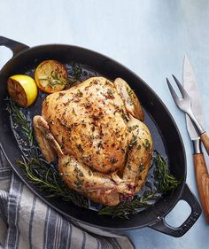 Make It Yourself: Slow-Roasted Lemon & Herb Chicken | Get the recipe for Make It Yourself: Slow-Roasted Lemon & Herb Chicken.