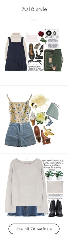 """""""2016 style"""" by sofsea ❤ liked on Polyvore featuring Dr. Martens, Briya, Laura Cole, Chloé, American Apparel, Skagen, Acne Studios, Maison Margiela, Helmut Lang and clean"""