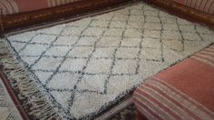 Vintage Moroccan Rug Beni Ourain 100 Wool Ivory Beni Ouarain 10 x 6'1 Ft | eBay