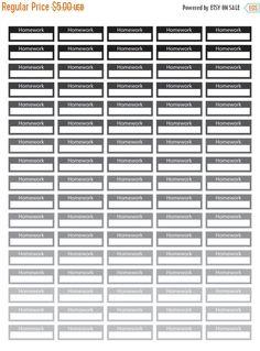 Flash  Of Entire Shop Work Schedule Planner Stickers  Black
