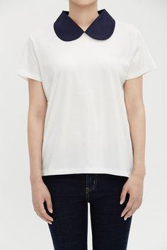 Idé på krage och färgkombination till min T-Shirt.