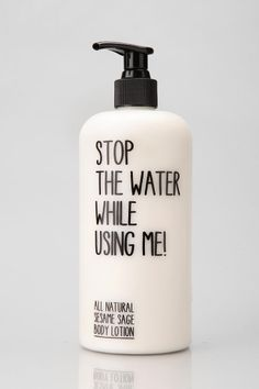 Stop the Water While Using Me! Sesame Sage Lotion #urbanoutfitters