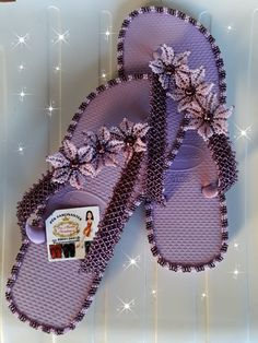 Palm Beach Sandals, Slippers, Beads, Shoes, Decorated Flip Flops, Towels, Zipper Jewelry, Made By Hands, Handmade Crafts