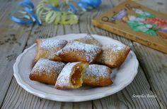 BUGIE RIPIENE DI MARMELLATA - ricetta piemontese Italian Pastries, Cannoli, Beignets, Churros, Biscotti, French Toast, Cupcake, Cooking Recipes, Snacks