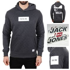 THE FUTURE STARTS TODAY Jack & Jones Quin Hoodie  Full collection 👉 http://www.hoodboyz.co.uk/jack-and-jones/
