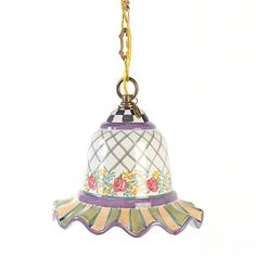This looks SOOOOO much cuter in person! MacKenzie-Childs Odd Fellows Pendant Lamp - Small