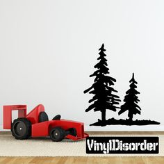 Pines Trees Wall Decal - Vinyl Decal - Car Decal - 063