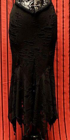 VAMPIRIKA SKIRT - MAD MAX FABRIC by Shrine Clothing Gothic Dresses
