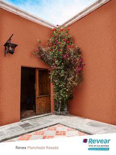 Exterior Paint Colors For House, Paint Colors For Home, Exterior Colors, Terrace Design, Backyard Garden Design, Orange Dining Room, Mexican Restaurant Decor, Pintura Exterior, Colour Architecture