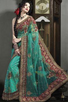 Z Fashion Trend: BEAUTIFUL NET HEAVY BORDER WORK DESIGNER SAREE