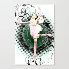 Pink Butterfly Fairy Ballet Stretched Canvas by Project Isabella - $85.00