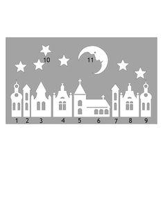 Bildergebnis für vystřihovánky do oken zima Christmas Paper, Christmas Time, Christmas Ornaments, Kirigami, Diy And Crafts, Paper Crafts, Christmas Templates, Paper Houses, Christmas Inspiration