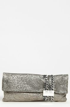 Jimmy Choo 'Chandra' Suede Clutch available at #Nordstrom