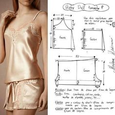 Dress Sewing Patterns, Blouse Patterns, Clothing Patterns, Fashion Sewing, Diy Fashion, Ideias Fashion, Sewing Clothes, Diy Clothes, Costura Fashion