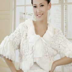 New White Faux Fur Sequin Wrap Shawl Jacket Coat « Dress Adds Everyday