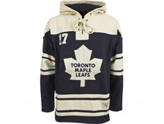 Old Time Hockey Toronto Maple Leafs Heavyweight Jersey Lace Hoodie - empty - HeartyHouse
