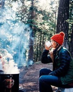   That first morning. That hot cup of coffee. Bundled up. Surrounded by the cool crisp forest. People always say to slow down; it's also important slowdown in the right places. by losangelesnationalparks
