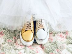 "Gen Nee: Mismatched+Shoes on Instagram: ""What do you do when one of your bff tells you that sneakers for brides are on high demand and the only, only, only skirt that is not in…"" Mismatched Groomsmen, Mismatched Bridesmaid Dresses, Brides And Bridesmaids, Bff, Told You So, Sneakers, Skirts, Beauty, Shoes"