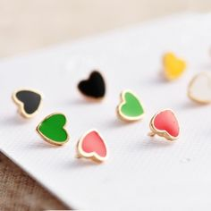 Lovely Stud Earrings 9pairs And 18pcs